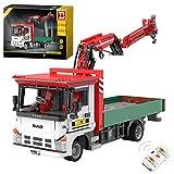 Dr.Bricks Technik Hybrid-Power Kranwagen, ShineYU YC-GC007 Isuzu Hybrid-Kran LKW, 1:12 Kranwagen Kompatibel mit Lego Technic Kran - 1477 Teilen