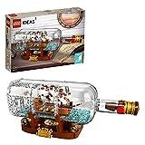 LEGO 92177 Ideas Schiff in der Flasche, Modellbausatz eines Schiffs zur Deko für Erwachsene sowie Mädchen und Jungen ab 12 Jahre, tolles Geschenk