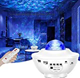 LED Sternenhimmel Projektor Lampe Nachtlicht Galaxy Projektor, Eingebautem Bluetooth Musiklautsprecher für Party Weihnachten Ostern und Kinder Erwachsene Zimmer Dekoration Weiß