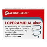 ALIUD PHARMA Loperamid AL akut, 10 Kapseln: Zur symptomatischen Behandlung von akutem Durchfall