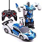 Transformers Toys 2 in 1 Transformator Auto RC Auto für Kinder Deformation Roboter Auto Spielzeug für Jungen Alter 3-12 RC Fahrzeug Spielzeug Fernbedienung Auto für Jungen 3-5