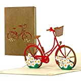 Gutschein Fahrrad, Fahrradtour, Geburtstagskarte originell für Frauen, beste Freundin, Pop up Karte 3D, Geschenkidee, Geschenkgutschein, T19
