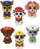 TY Mini Boos Collectables Paw Patrol 6 cm - alle 6 Minifiguren - Sammelfiguren