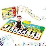 Tanzmatten Klaviermatte, Piano Mat, Musikmatte,Kinder Spielzeug Matte Keyboard Klavier Playmat Musik Boden Berühren Sie Spielmatte für Babys Kinder Kleinkind Jungen Mädchen Geschenk (135 x60cm)