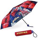 Regenschirm Kinder Spiderman - BONNYCO | Regenschirm Sturmfest mit Verstärkter Struktur - Klappschirm mit für Tasche, Rucksack oder Reise | Regenschirm Klein Jungen - Geschenke für Jungen