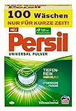 Persil Universal Pulver Waschmittel (100 Waschladungen), Vollwaschmittel mit Tiefenrein-Plus Technologie bekämpft hartnäckigste Flecken für strahlende Reinheit