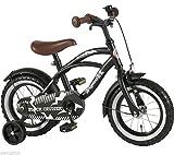 12 Zoll Fahrrad Qualitäts Kinderfahrrad matt schwarz bike Black Cruiser 21201