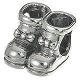 925 Sterling Silber Dame Schleife Schneeschuh Fashion Bead für europäische Charm-Armbänder