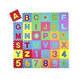 Khosd Spielmatte 36 Stck Kinder Puzzlematte, Spielteppich Puzzlematte Kinderteppich Schutzmatte Kinderspielteppich Schaumstoffmatte A bis Z Puzzlematte Buchstaben Kälteschutz abwaschbar