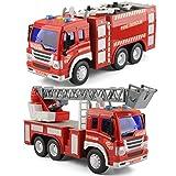 GizmoVine 2 Stücke Auto Spielzeug für 2 Jahre Alten Jungen Feuerwehrauto Mit Lichtern und Tönen, Früh Bildung Auto Spielzeug Trägheit Fahrzeuge Für Kinder und Kleinkinder