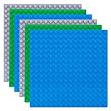 Celawork Große Bauplatte 25.5*25.5cm, Kompatibel mit Duplo Bauplatte, Große Grundplatte , Mehrfarbige Kombinationen Bauplatten Kreatives Vorschulspielzeug