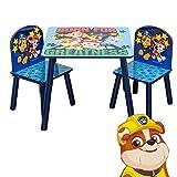 PAW Patrol TISCHSET   Kindersitzgruppe aus Kindertisch und 2 Stühlen für Kinderzimmer   Kindermöbel für Jungen & Mädchen   Sitzgruppe für Kinder zum Spielen & Essen