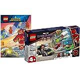 Collectix Lego Super Heroes Set: Marvel Mysterios Drohnenattacke auf Spider-Man 76184 + Rätselspaß für Superhelden (Softcover)