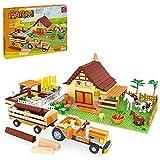 MARLO 626St. Bauernhof Bausteine Kit, Farm Hütte Lernspielzeug Kompatibel mit Lego