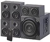 auvisio HiFi Verstärker: Analoges 5.1-Lautsprecher-System für PC, TV, DVD, Beamer & Co, 120 W (PC Soundsystem)