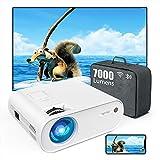 TOPTRO Mini Beamer, WiFi Bluetooth Beamer Projektor, Beamer 7000 Lumen Full HD 120', Support 1080P Full HD Multimedia-Geräten [Energieeffizienzklasse: A+++], Weiß
