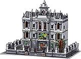MOMAMO Modulare Architektur Lunatic Asylum Modular House Building Blocks 7620 Terminal Blocks 3 Etagen Krankenhaus Madhouse Modular House, kompatibel mit Lego