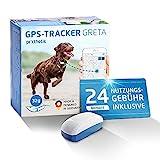 Prothelis Greta Hunde GPS Tracker Mini Peilsender mit App inklusive 24 Monate Nutzungsgebühr | Tracking GPS für Hunde mit Akku Laufzeit bis 5 Tage 32g leicht wasserdicht | GPS Tracker Hund klein