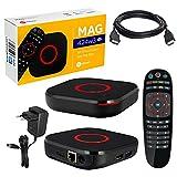 MAG 424w3 mit 2Gb RAM Original Infomir & HB-DIGITAL 4K IPTV Set TOP Box Multimedia Player Internet TV IP Receiver # 4K UHD 60FPS HDMI 2.0# HEVC H.256 Unterstützung # ARM Cortex-A53 + HDMI Kabel