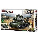 Sluban SL95560, WWII - Mittlerer All. Panzer [M38-B0689], Spielset , Klemmbausteine, Soldaten, mit Spielfigur, Army WWII