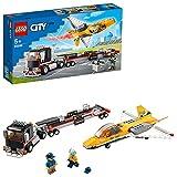 LEGO 60289 City Flugshow-Jet-Transporter, Spielzeug-Set mit Flugzeug und Anhänger, Geschenk für Kinder ab 5 Jahre