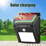 Solarbetriebener Sound & LED-Licht Bewegungsmelder Sound Alarm Detektor Home Security Alarmanlage mit austauschbarer Stimme für Garten Hof Zaun Villa Scheune Farm Deck