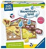 Ravensburger ministeps 4173 Unser Bauernhof-Spiel, Erstes Spiel rund um Tiere, Farben und Formen - Spielzeug ab 2 Jahre