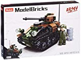 Sluban SL95600, Leichter Panzer (245 Teile) [M38-B0750], Spielset , Klemmbausteine, Soldaten, mit Spielfigur, Army