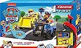 Carrera 20063035 FIRST PAW PATROL On the Double 2,4m Rennstrecken-Set   2 ferngesteuerte Fahrzeuge mit Chase und Rubble   mit Handregler & Streckenteilen   Spielzeug für Kinder ab 3 Jahren