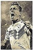 Leinwand Malerei Bild Fußball Fußballspieler Toni Kroos Sport Bild für Wohnzimmer Dekor Poster Wandkunst Bilder Und Drucke 19.7'x27.6'(50x70cm) Kein Rahmen