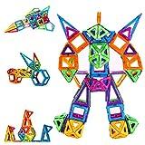 CONDIS Magnetische Bausteine 114 Teile Magnetspielzeug Magnete Kinder Magnetbausteine Magnet Spielzeug Kinder Magnetspiele für Kinder Kinderspielzeug Puzzle Geschenk ab 3 4 5 6 7 Jahre Junge Mädchen