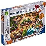 Ravensburger tiptoi Spiel 00051 Puzzle für kleine Entdecker: Zoo - 2x12 Teile Kinderpuzzle ab 3 Jahren, für Jungen und Mädchen, 1 Spieler