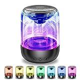 Bluetooth Lautsprecher,tragbar verstellbar 7 Farben 360 ° Stereo-Sound Kristallglas Musik Speaker mit 12 Stunden Spielzeit, funktioniert mit Handys, Tablets, Laptops und Desktop-Computern und mehr
