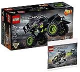 Collectix Lego Set - Lego Technic Monstertruck Monster Jam Grave Digger 42118 + Lego Technic Hubschrauber 30465 (Polybag)