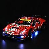 LIGHTAILING Licht-Set Für (Technic Ferrari 488 GTE AF Corse 51) Modell - LED Licht-Set Kompatibel Mit Lego 42125(Modell Nicht Enthalten)