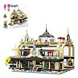Yayun 3950Pcs European Railway Station Building Blocks Architecture Assembled Bricks Birthday Gifts (The Product is not Made and Sold by Lego and Has no Connection with Lego)