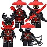 LEGO Ninjago Minifiguren-Set #11 mit 4 Kämpfern der Steinsamurai und Zubehör