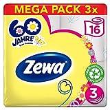 Zewa Toilettenpapier Limited Edition'Hippie birthday', 3-lagig, Vorratspack, 3 Packungen 16x150 Blatt