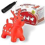 all Kids United® Hüpftier Sprungpferd - Hüpfpferd Sprungtier + Pumpe (REH)