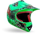"armor HELMETS® AKC-49 ""Limited Green"" · Kinder Cross-Helm · Motorrad-Helm MX Cross-Helm MTB BMX Cross-Bike Downhill Off-Road Enduro-Helm Moto-Cross · DOT Schnellverschluss Tasche L (57-58cm)"