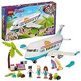 LEGO 41429 Friends Heartlake City Flugzeug Spielzeug ab 7 Jahren, Set mit 3 Mini Puppen und Zubehör