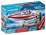 PLAYMOBIL Sports & Action 70744 Speedboot mit Unterwassermotor, Schwimmfähig, Ab 4 Jahren