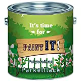 Paint IT! langfristiger Parkettlack Treppenlack glänzend seidenmatt Parkettöl Parkettpflege FARBLOS (1 L, Glänzend)