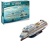 Revell Revell_05230 Modellbausatz Schiff 1:400 - Cruiser Ship AIDAblu, AIDAsol, AIDAmar, AIDAstella im Maßstab 1:400, Level 5, originalgetreue Nachbildung mit vielen Details, Kreuzfahrtschiff, 05230