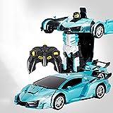 WZRYBHSD Auto Roboter Laden Fernbedienung Auto Rapid Drifting Deformierte Roboter Spielzeug Geschenk Transforming Fahrzeug Stunt Racing Mit Ein-Knopf-Deformation Weihnachtsgeburtstagsgeschenke Für Jun