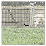 CAIJUN-Türschutzgitter Plastikzaun, Landwirtschaftsgehege für Garten Pflanze Blume Hühner, Air Ventilation Isolation Mesh-Netz 1m/1,2m/1,5m (Color : Black, Size : 1.5mx25m)