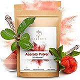 VEGANTY® Premium Vitamin C Pulver hochdosiert - Acerola Pulver - Vitamin C 1000mg - veganes Fruchtpulver - Superfood Topping - 10 Monate (300g Beutel) - natürliches Vitamin C Pulver