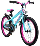 BIKESTAR Kinderfahrrad 20 Zoll für Mädchen und Jungen ab 6 Jahre   20er Kinderrad Mountainbike   Fahrrad für Kinder Berry & Türkis   Risikofrei Testen
