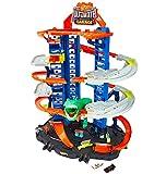 Hot Wheels GJL14 City Robo T Rex Megacity Parkgarage mit Spielzeug Dinosaurier inkl. 2 Spielzeugautos, Geschenkidee für Kinder von 5 - 8 Jahren