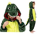 Seawhisper Dinosaurier Kostüm Jumpsuit Kinder Schlafoverall Tier Dino Pyjamas Halloween Kostüm Faschingskostüm 104 110
